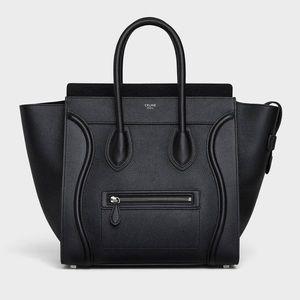 Authentic Mini Celine Bag w/drummed leather